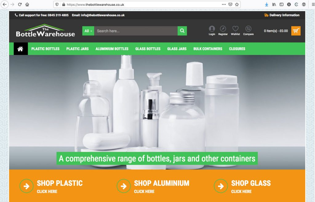 The Bottle Warehouse - Ecommerce Site