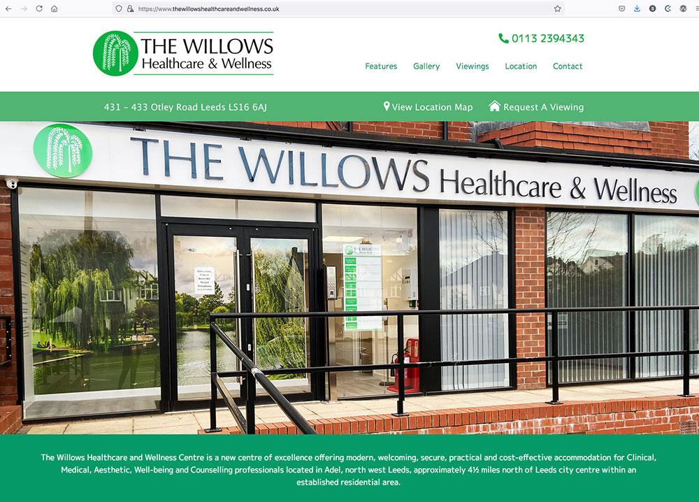 The Willows Health & Wellness Centre - Website Design & Build