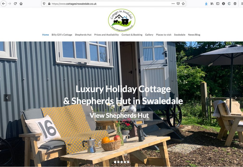 Cottages in Swaledale - Website Design with Online Booking