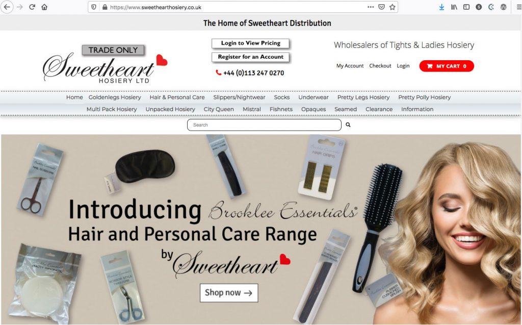 Sweetheart Hosiery - Ecommerce Site