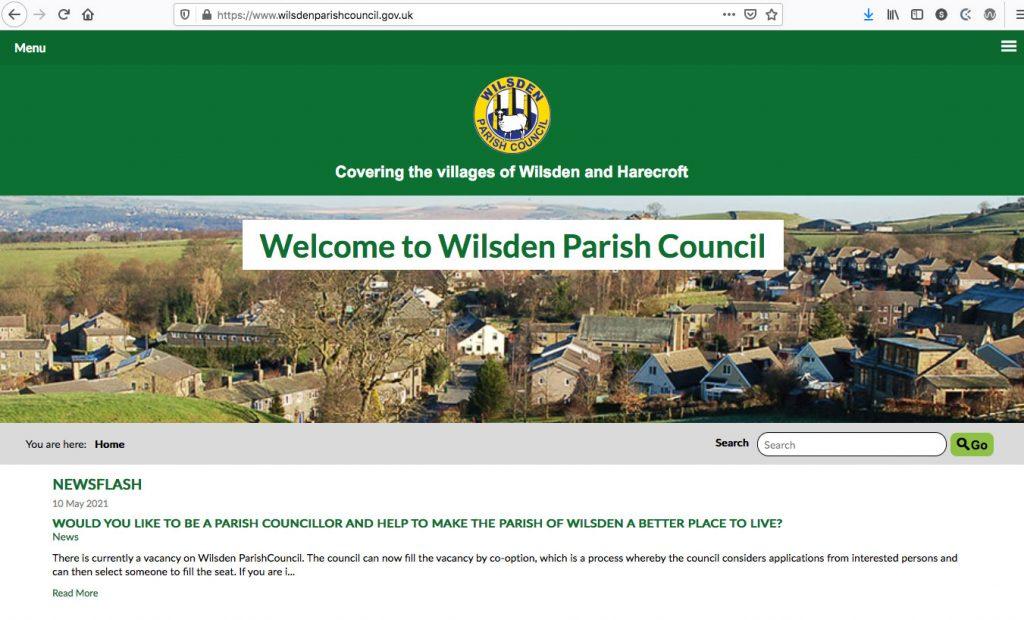 Wilsden Parish Council - Website Design and Build